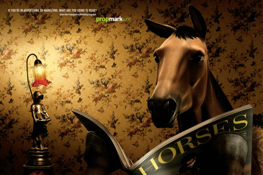 Horse : Advertisement by Neogama/BBH for PropMark.