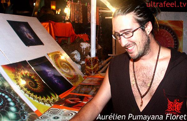 Aurélien Pumayana Floret: Mandala art @ night market in Goa (Photo: ultrafeel.tv)