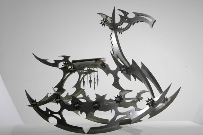 Steel rocking horse by Shi Jinsong.