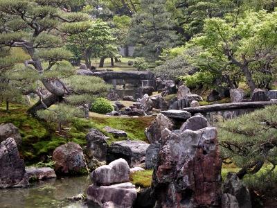 Zen garden landscape.