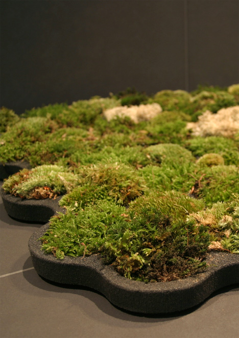 Green moss carpet by designer Nguyen La Chanh.