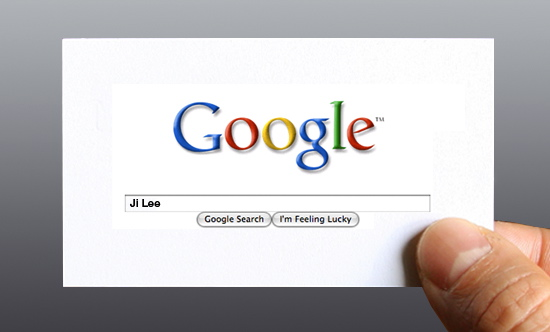 Google Me business card by designer Ji Lee.