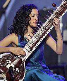 Anoushka Shankar plays the sitar.