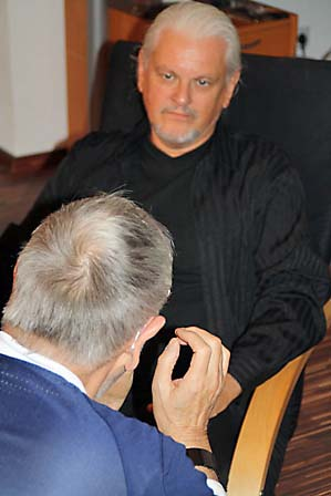 Werner Ablass im Gespräch