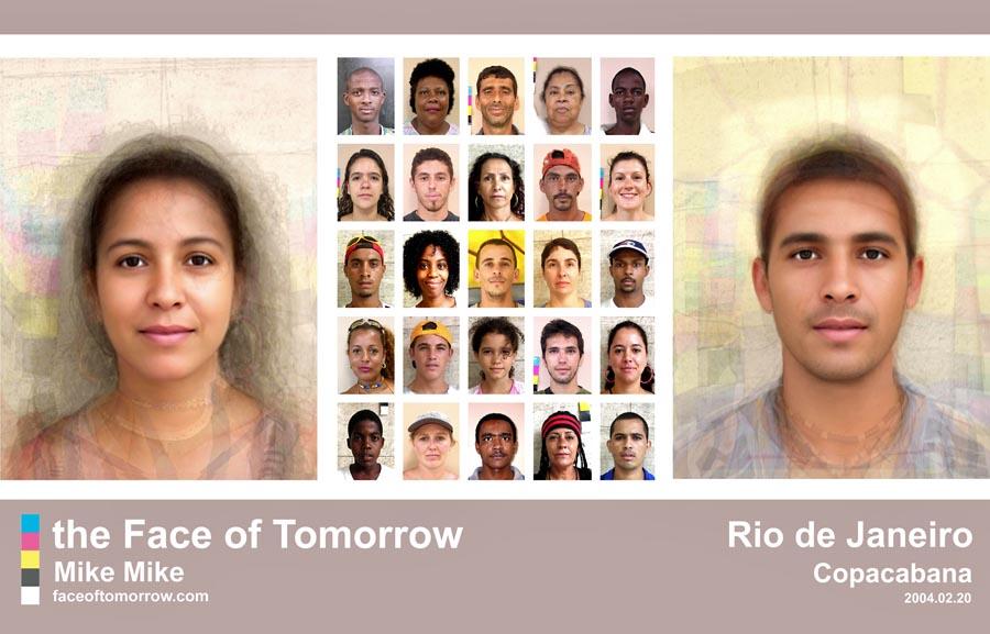 Average faces in Brazil