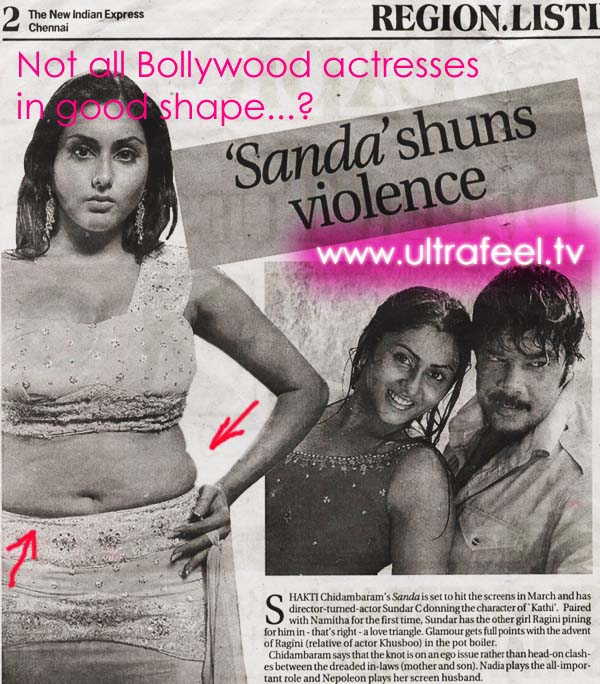 Indian Bollywood actresses: Not all are in good shape...