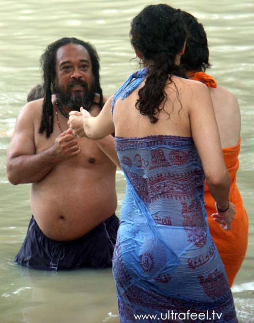 Guru And Satsang Teacher Taking A Bath With Ladies