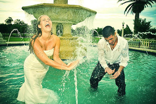 Wedding in a Fountain (c) Rich Johnson