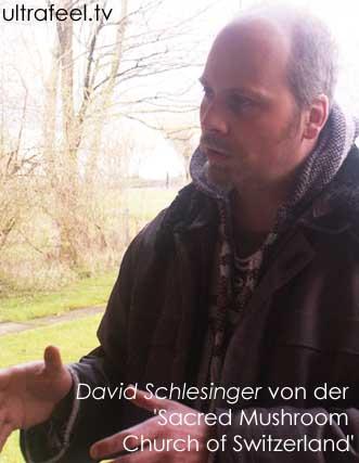 Pastor David Schlesinger von der Kirche der heiligen Pilze der Schweiz. (Sacred Mushroom Church of Switzerland)