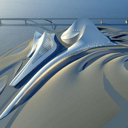 Zaha Hadid's opera house in Dubai.