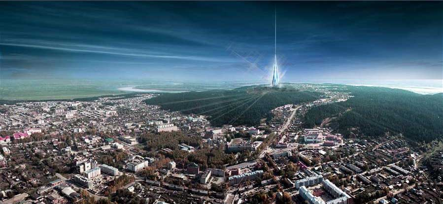 Khanty Mansiysk in Siberia, Russia. Architecture project by Foster + Patners.