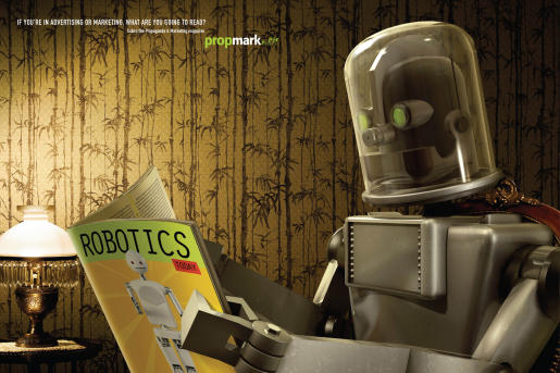 Robot: Advertisement by Neogama/BBH for PropMark.
