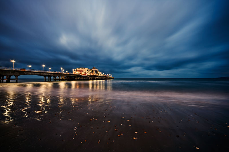 Andy Bell photography: Bournemouth Pier at night.