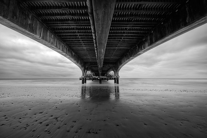 Underneath Bournemouth Pier. Photo by Andy Bell.