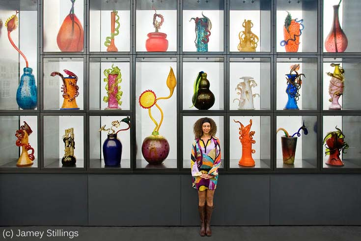 Woman and Vases by Jamey Stillings.