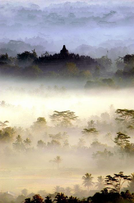 Borobudur @ Menoreh Hill. Asian landscape. Ameckmon. Dcmag.co.uk