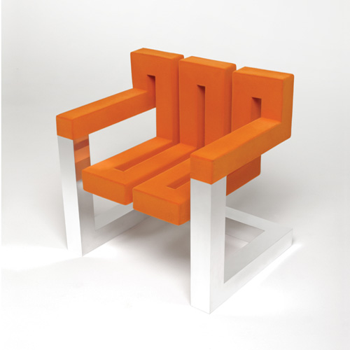 Design chair 'Zig Zag' by Deeplymadlyliving.com has no beginning and no end!