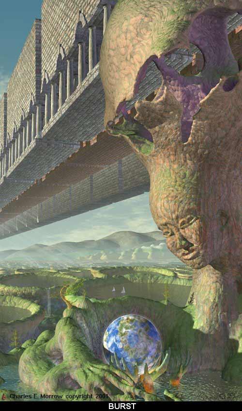 "Visionary art by Charles E. Morrow: ""Burst"""