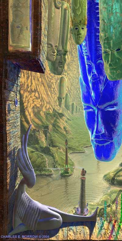 "Visionary art by Charles E. Morrow: ""Here I am"""