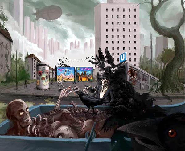 Zoomquilt 2: Flash zoom animation movie by Nikolaus Baumgarten and Markus Neidel.