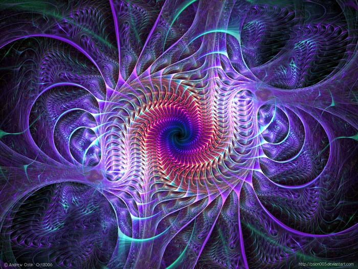 """Gigers Twist"" Psychedelic fractal art by Andrew Ostin (Psion 005). Apophysis."