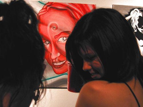 """Kenji's """"Character 05"""" Woman at art exhibition"""