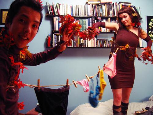 Kenji & Julie's Clothesline costume