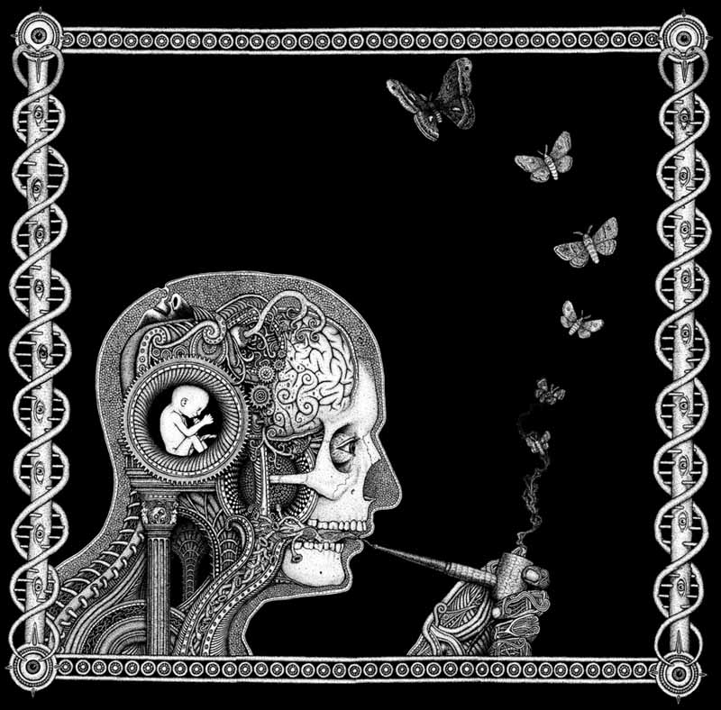 Psychedelic smoker art.
