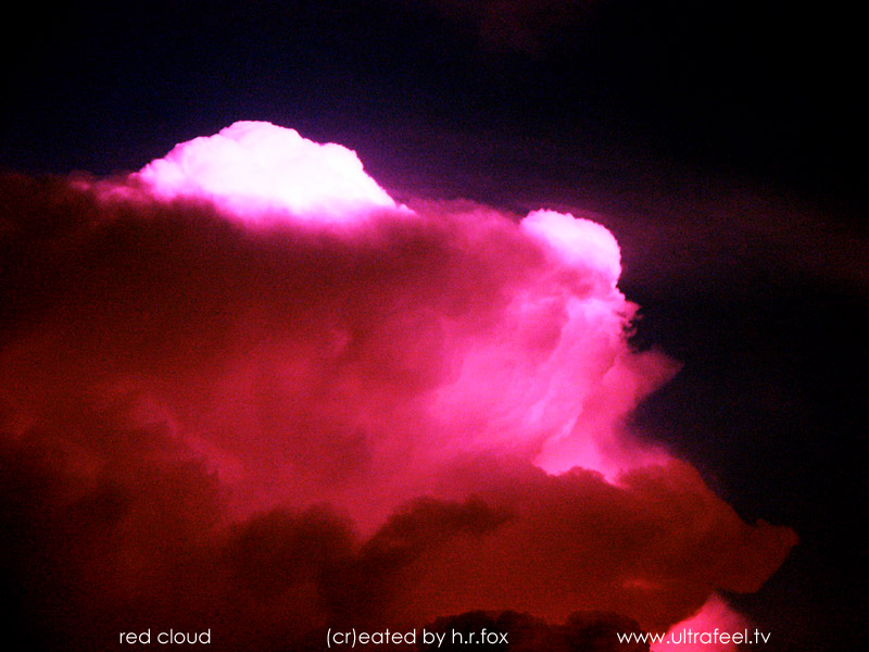 """Red Cloud"" - ""Rote Wolke"" by h.r. fox @ ultrafeel.tv"