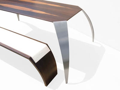 Roller GmbH. Tisch 1.1 and Bank 2.1  chair and bench - Furniture art