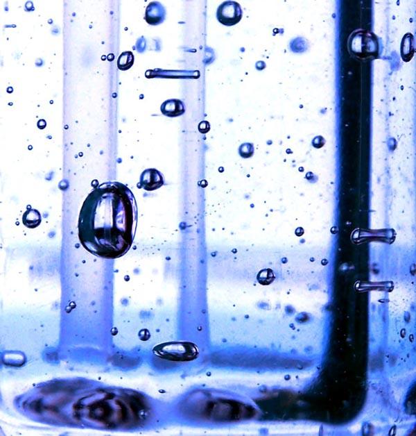 "Sharlene Shappart's water bubble art. ""Gooey Galaxy"""