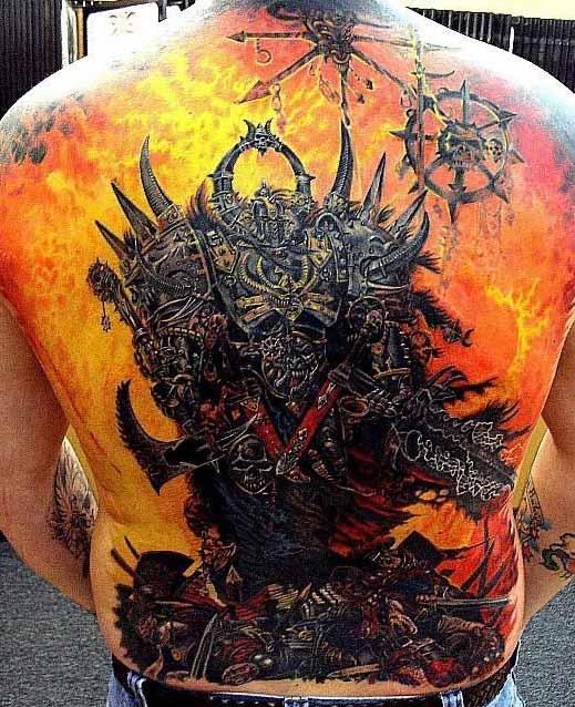 Tattoo of a demon in hell. Tatto eines dämon in der hölle. (photo: unknown)
