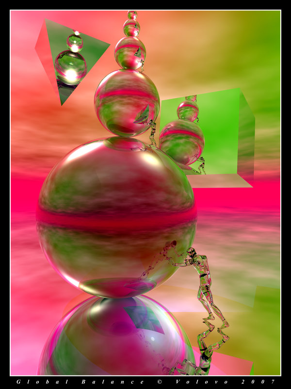"Volovo's ""Global Balance"". Digital art."