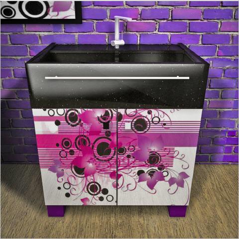 Dilger wash basin: Fantasy Dekor violet.