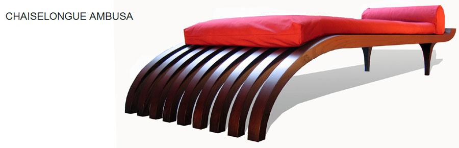 Couch 'Chaiselongue Ambusa' by Manolo Moebel.