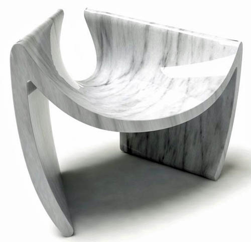 'Easy Lounge' marble chair by Tor Art.