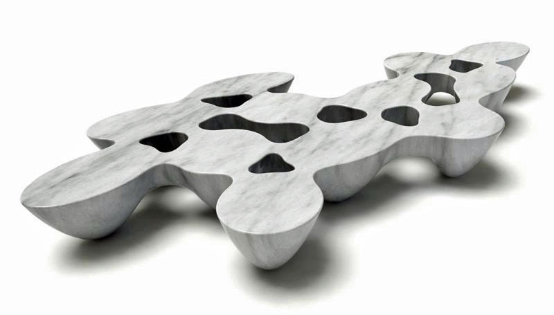"Emmanuel Babled's ""Quark 20"" marble table."