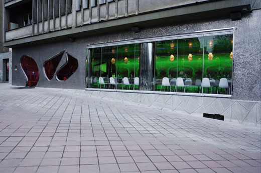 Karim Rashid's Majik Café in Belgrade.