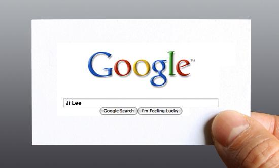 Google Me business card by designer Ji Lee.
