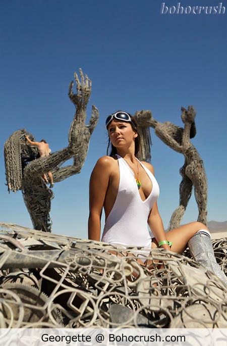 Georgette at Burning Man 2008 (c) Shone Jen @ Bohocrush.com