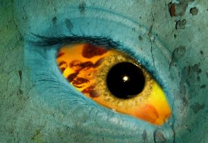 Psychedelic eye. Psychedelisches auge.