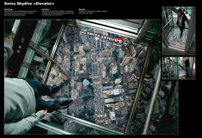 Swiss Skydive Elevator.