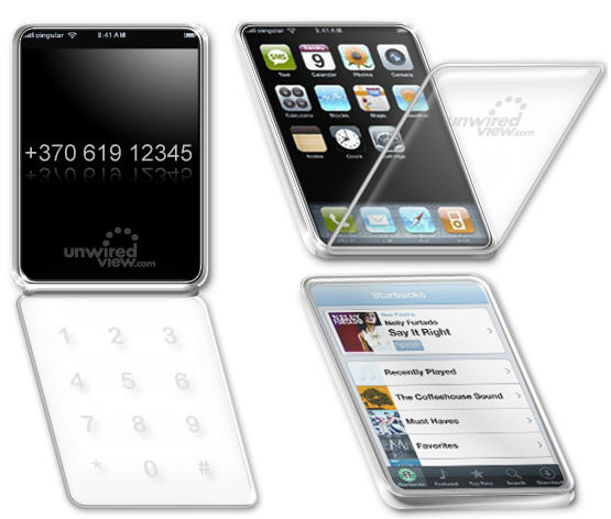Apple iPhone 2 will be a flip clamshell phone? Or is it just a fake?