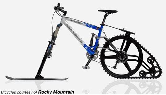 Ski bike Ktrak. Skivelo.