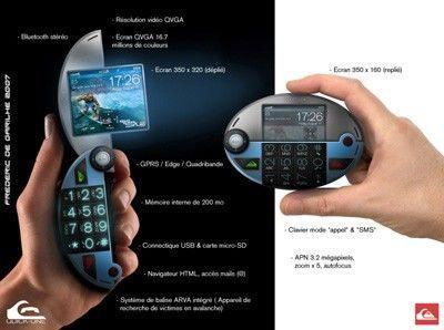 """Quiksilver's """"Pacman"""" mobile phone concept"""