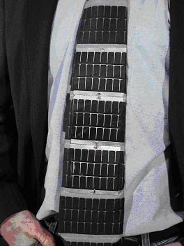 Hightech tie: Solar powered necktie by Iowa State University (ISU)