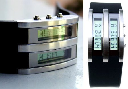 Dual-LCD watch by Thix. Design-uhr aus China.