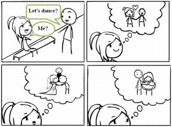 """""""Let's dance"""" - Female logic..."""