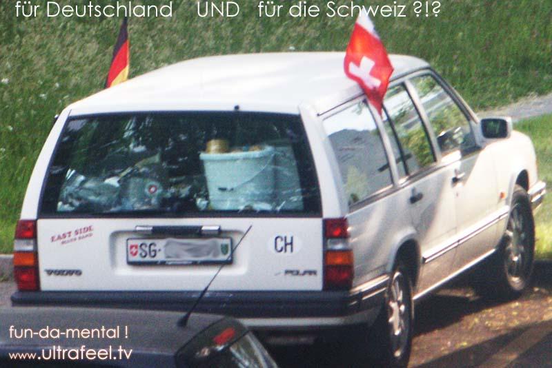 EM 2008 - Fussball-Fan: Gleichzeitig für Deutschland UND die Schweiz !?