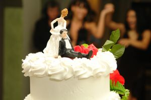 Wedding cake: Poor man...